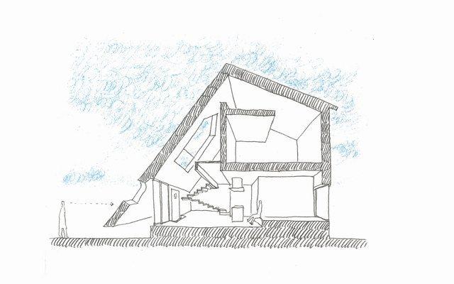 立体房子内部结构简笔画